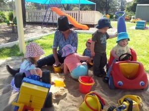 Sandpit play